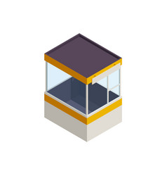 Parking booth icon vector