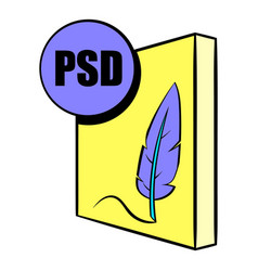Psd file icon cartoon vector