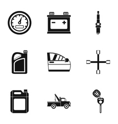 Renovation for machine icons set simple style vector