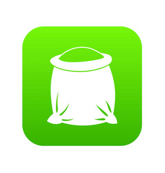 sack full of flour icon digital green vector image