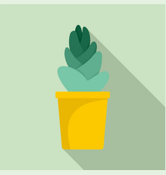 sand cactus pot icon flat style vector image