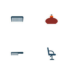 set of hairdresser icons flat style symbols with vector image