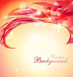 shiny red background vector image