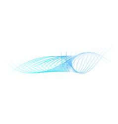 Simple abstract gradual blue 8 wave line vector