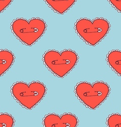 Sketch pinned heart vector image