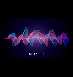 sound wave music recording audio equalizer vector image