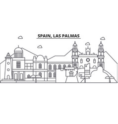 Spain las palmas architecture line skyline vector