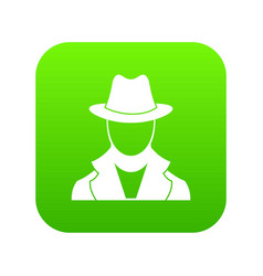 spy icon digital green vector image