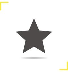 Star mark icon vector