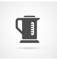 Teapot kettle trendy icon vector image