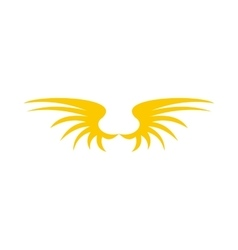 Two yellow wing birds icon flat style vector