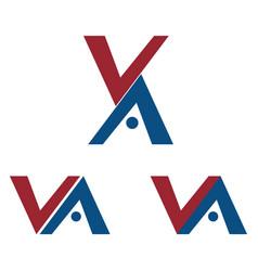 va letters logo designs vector image