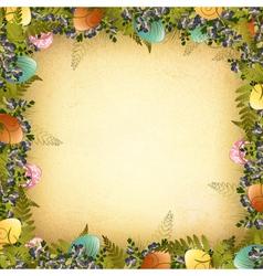 Vintage Easter Frame vector