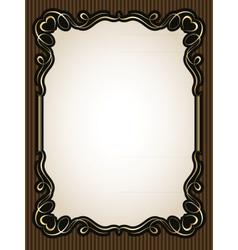 vintage gold calligraphy heart frame pattern vector image