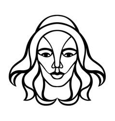 virgo zodiac sign black horoscope symbol vector image