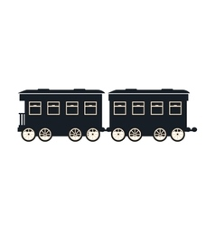 wagon of passengers train rail vector image