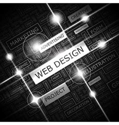 WEB DESIGN vector image vector image
