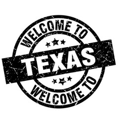 welcome to texas black stamp vector image