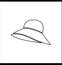 Womens hat icon fashion design vector