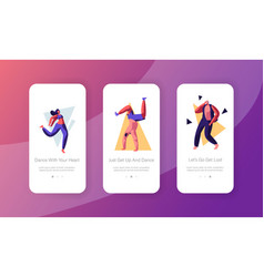 young people dancing on disco party concept vector image