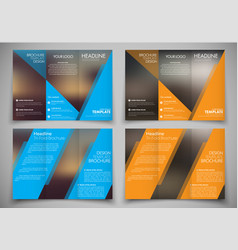 brochure design with blurred background and color vector image