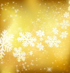 Golden Xmas background vector image