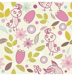 leafy wallpaper vector image vector image