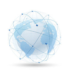 modern globe network vector image vector image