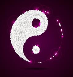 Ying yang paper origami symbol vector image vector image