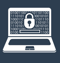 concept laptop security vector image vector image
