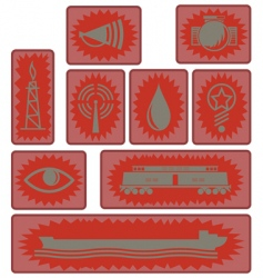 industrial age icons and symbols vector image vector image