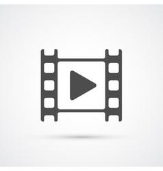 Movie film play icon vector image vector image