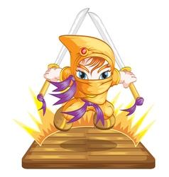 ninja1 vector image