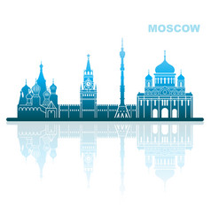 attractions moscow abstract landscape vector image vector image