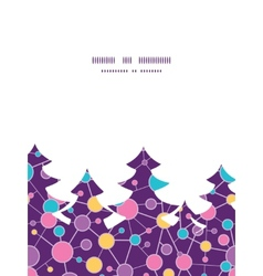 Molecular structure christmas tree silhouette vector