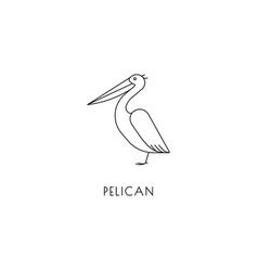 pelican outline icon vector image