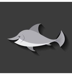 tender cute dolphin card icon vector image