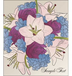 bouquet of beautiful flowers vector image