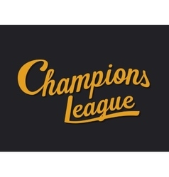 Championship league football typography Tee vector image