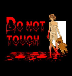 Do not touch vector image
