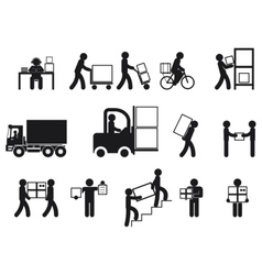 Logistic people pictograms vector image vector image