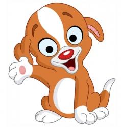 presenter puppy vector image vector image