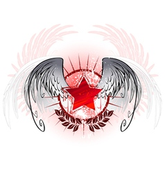 red star painted with paint vector image