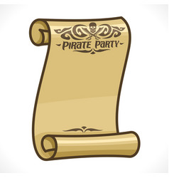 scroll for pirate party vector image