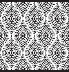 Seamless ikat pattern vector