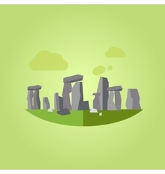 Stonehenge in Flat Style vector image