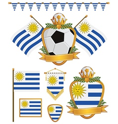 uruguay flags vector image