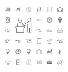 33 journey icons vector