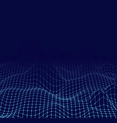 Abstract cyberspace landscape frame background vector