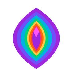 Abstract vulva symbol rainbow colored lgbt symbol vector
